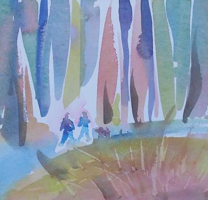 A Walk in the Woods_9 in x 9 in_20180730