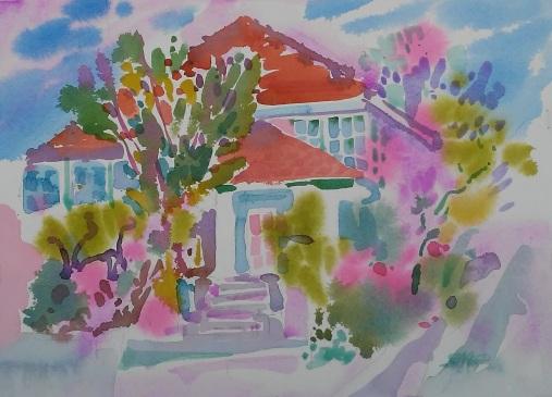Berkeley Home in Spring, 11 in x 14 in, 20190415.pdf.jpg