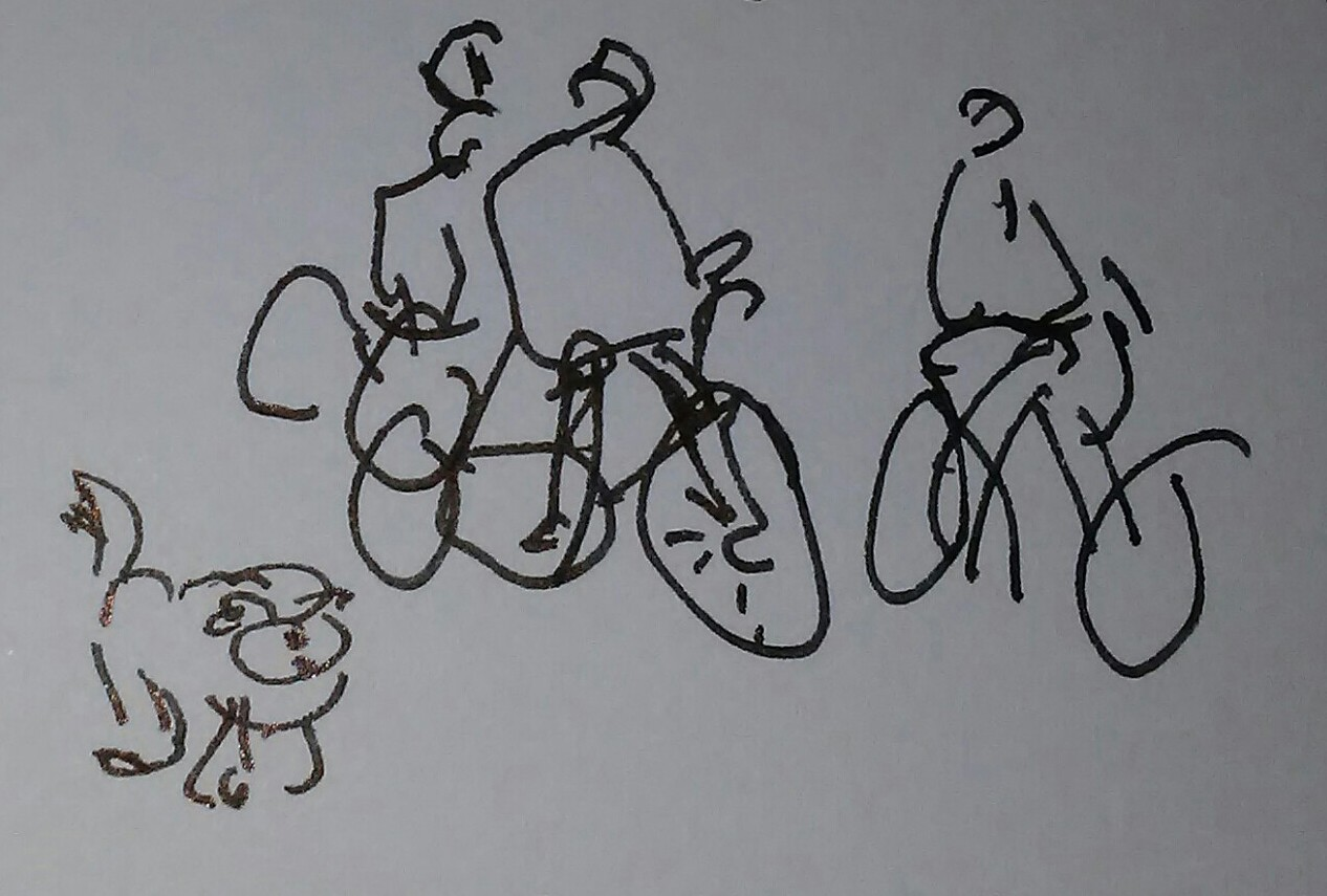 Bicyclists with Dog_20190226