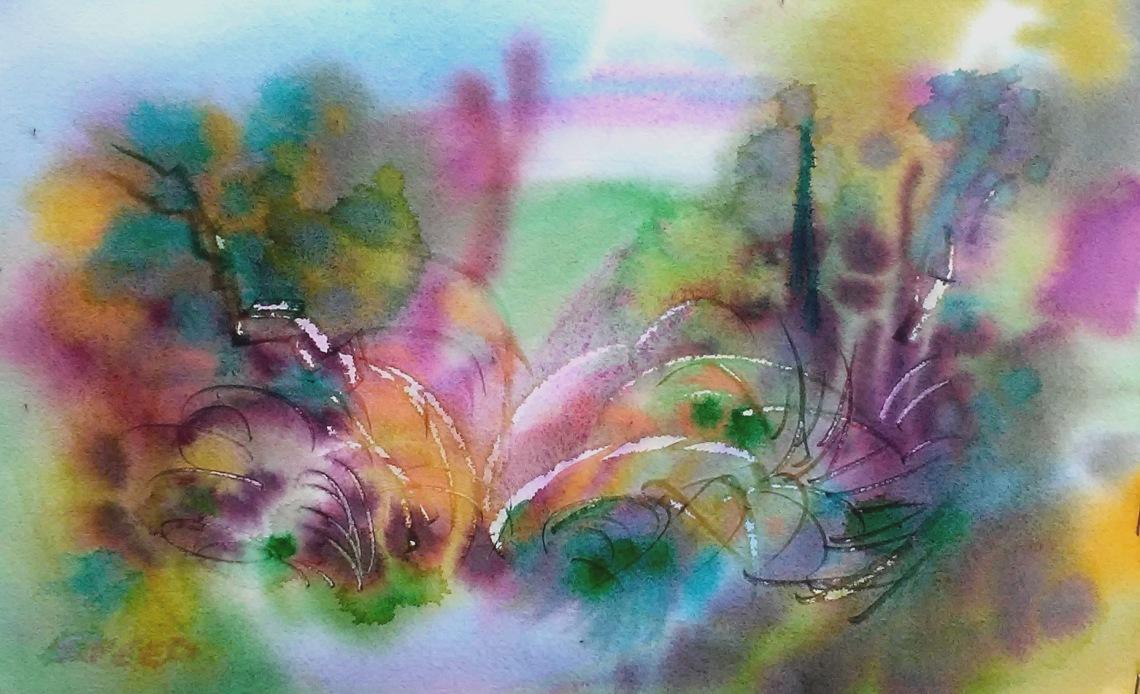 Frog Song in Blake Garden, 9 in x 15 in, 20200127