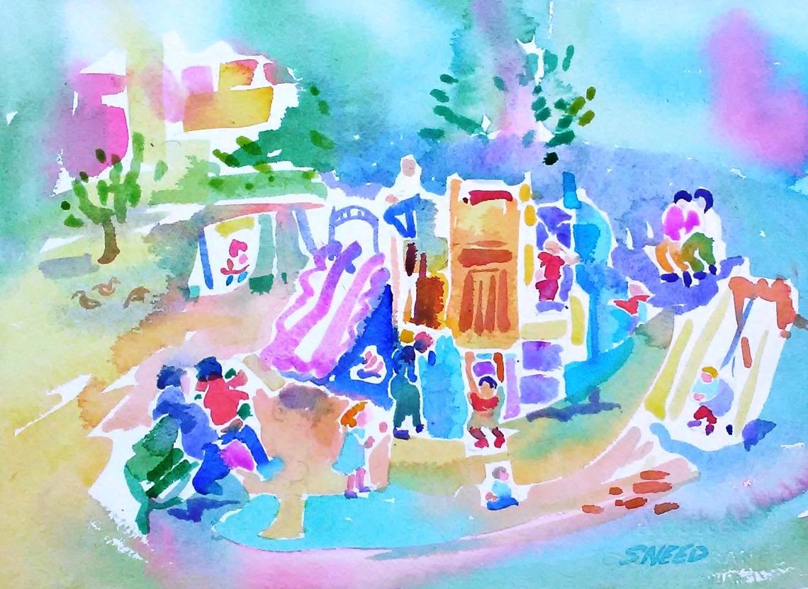 Lakeshore Playground, 18 x 22, 20180813.jpg