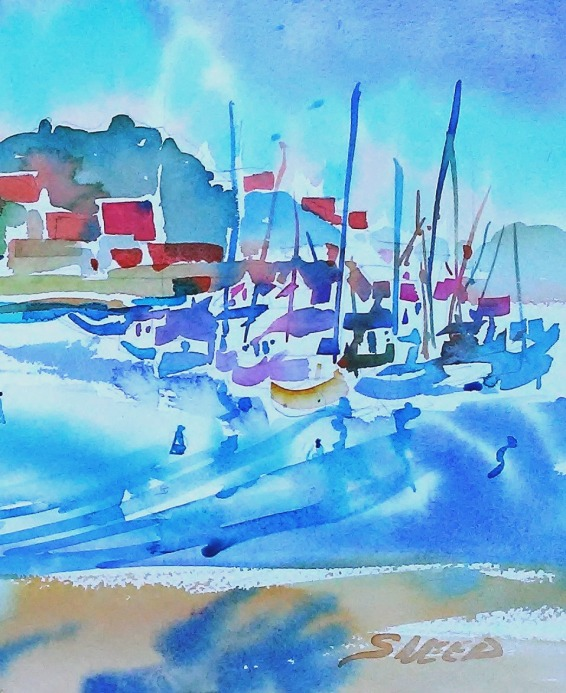 Richmond Harbor, Part 2, 9 in x 15 in, 20200210