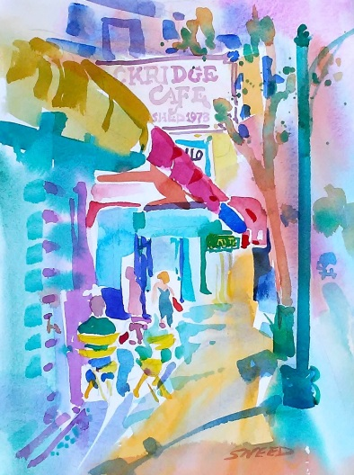 Rockridge Cafe, Chance Encounter, 22 in x 18 in, 20191007.jpg