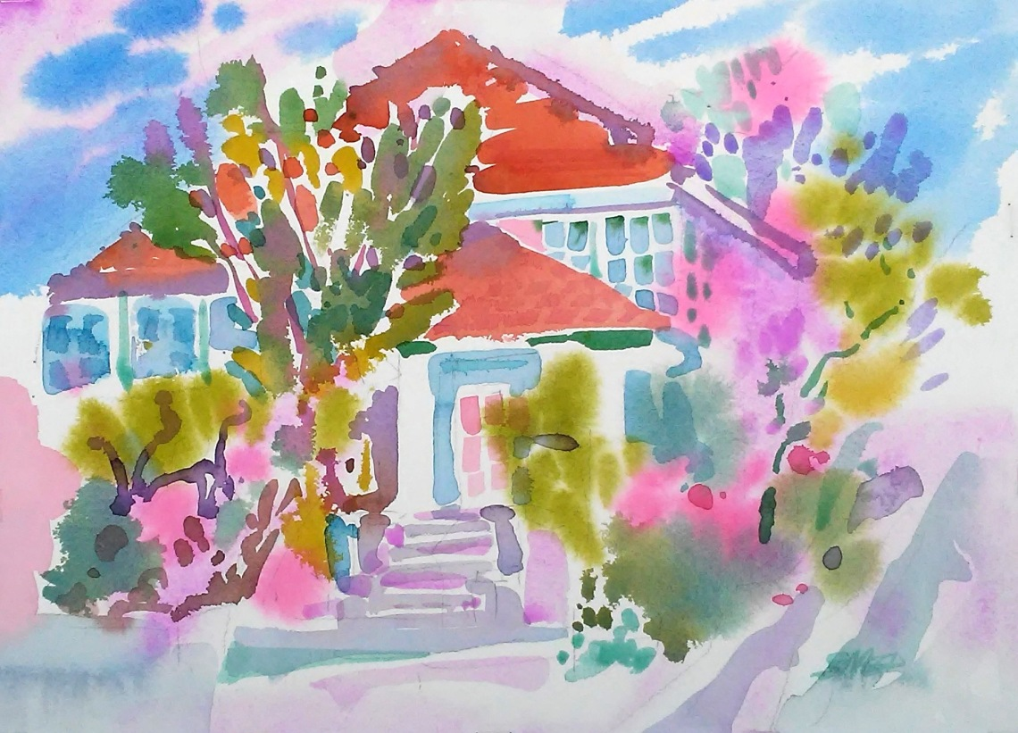 Springtime on Walnut Street, Berkeley, 18 in x 22 in, 2019415.jpg