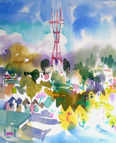 Sutro Tower From Liberty Street, 22 in x 18 in, 20190803