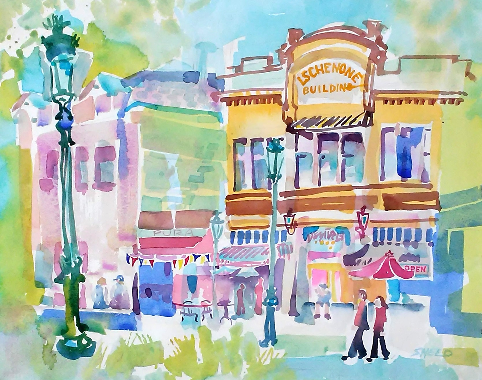Town Square Livermore, 16 in x 20 in, 20190602.jpg