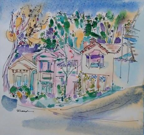 Santa Fe Street Houses, Ink and Watercolor, 20181213.jpg