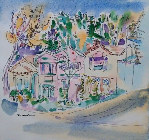 Santa Fe Street Houses, Ink and Watercolor, 20181213.jpg