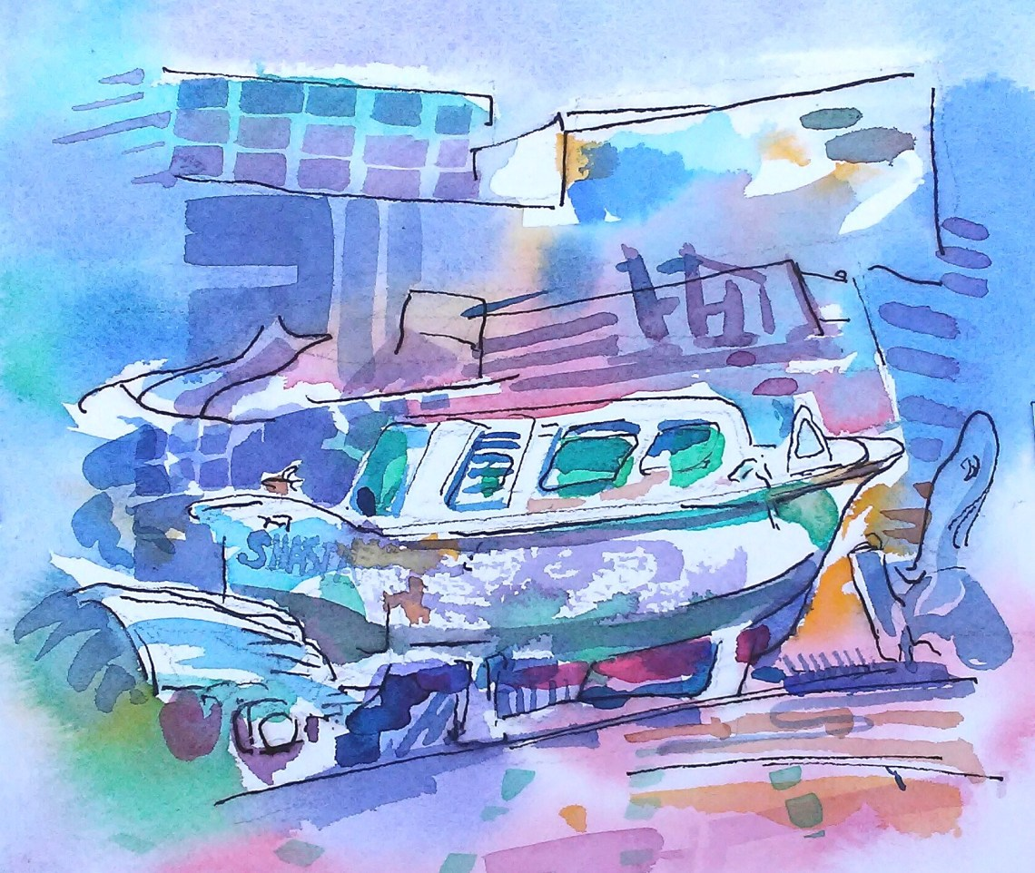 Boat at the End of the Pier_7.25 in x 8 in_20180305.jpg