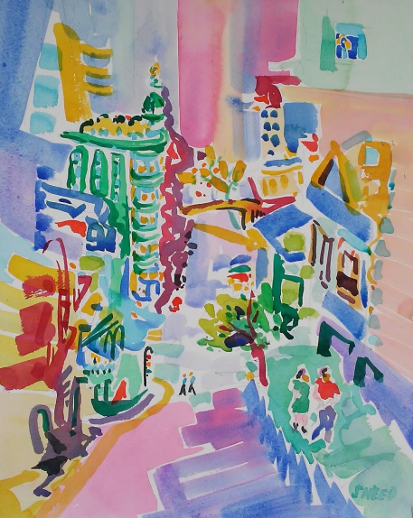 Kearny Street From North Beach to Downtown, 20170316, $475, ACCEPTED. JUROR'S CHOICE